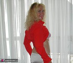 Ruth. Red and White Lace BJ Free Pic 9