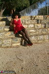 GermanIsabel. Me in Red Outside Free Pic 4