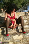 GermanIsabel. Me in Red Outside Free Pic 8