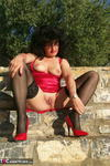 GermanIsabel. Me in Red Outside Free Pic 15