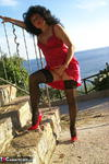 GermanIsabel. Me in Red Outside Free Pic