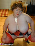 Chris44G. Red Waspie & Stockings 1 Free Pic 8