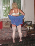 Ruth. Red Garter & Blue Fishnet Free Pic 3