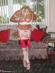 Ruth. Red Garter & Blue Fishnet Free Pic 10