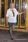SpeedyBee. Skool Girl Speedy Flashing By The Skool  Free Pic 5