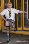 SpeedyBee. Skool Girl Speedy Flashing By The Skool  Free Pic 6