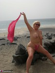 Barby. Beach Flashing Free Pic