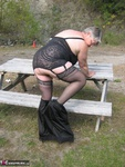 GirdleGoddess. Outdoors on a sexy Autumn day. Free Pic