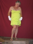 Girdle Goddess. Green Sun Dress Free Pic 1