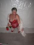 Girdle Goddess. Red & White Free Pic 5