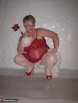 Girdle Goddess. Red & White Free Pic 6