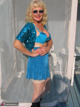 Ruth. Beautiful In Blue Glitter Free Pic