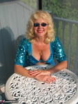 Ruth. Beautiful In Blue Glitter Free Pic 13