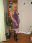 Ruth. Black Boots Purple Glitter Free Pic 2