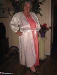 Girdle Goddess. White Satin Kimono Free Pic 1