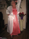 Girdle Goddess. White Satin Kimono Free Pic 2