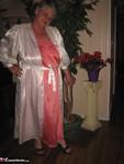 Girdle Goddess. White Satin Kimono Free Pic 3