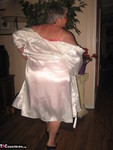 Girdle Goddess. White Satin Kimono Free Pic 6