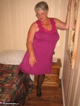 GirdleGoddess. Purple Dress & Mauve Corset Free Pic 2