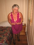 GirdleGoddess. Purple Dress & Mauve Corset Free Pic 5