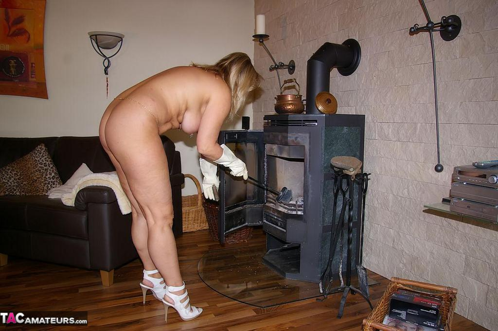Nude housework wives doing