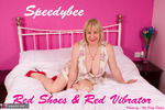 SpeedyBee. Red Shoes, Red Vibrator Free Pic 1