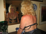 Ruth. Black Shiny Dress White Feathers Free Pic 8