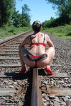 SexySultry. On the railway Free Pic 7