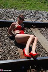 SexySultry. On the railway Free Pic