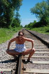 SexySultry. On the railway Free Pic 16