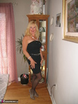 Ruth. Black Strapless Flashing Shoes Free Pic 1