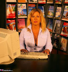 NudeChrissy. Working In The Travel Agents Free Pic 1