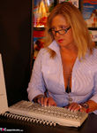 NudeChrissy. Working In The Travel Agents Free Pic 3