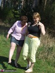 Kinky Carol. With CurvyClaire in the forest Free Pic 2