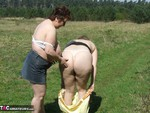 KinkyCarol. With CurvyClaire in the forest Free Pic