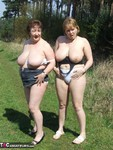 KinkyCarol. With CurvyClaire in the forest Free Pic 18