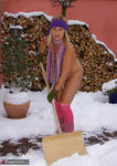NudeChrissy. Nude In The Snow Pt2 Free Pic 4