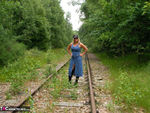 NudeChrissy. On The Tracks Free Pic 1