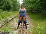NudeChrissy. On The Tracks Free Pic