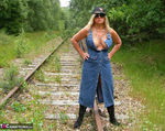NudeChrissy. On The Tracks Free Pic 10