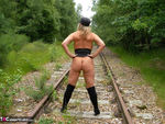 NudeChrissy. On The Tracks Free Pic 19