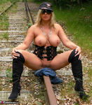 NudeChrissy. On The Tracks Free Pic 20