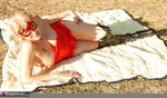 Dimonty. Red Sunbathing Free Pic 1
