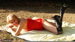 Dimonty. Red Sunbathing Free Pic 5