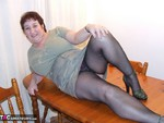 KinkyCarol. Tights On The Table Free Pic