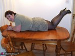 Kinky Carol. Tights On The Table Free Pic 4
