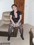 KinkyCarol. Stripey Tights Free Pic