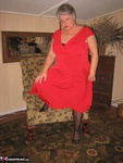 GirdleGoddess. Red Hot In Red Dress Free Pic 2
