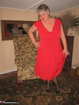 GirdleGoddess. Red Hot In Red Dress Free Pic 3