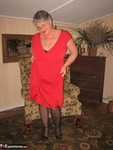 GirdleGoddess. Red Hot In Red Dress Free Pic 4